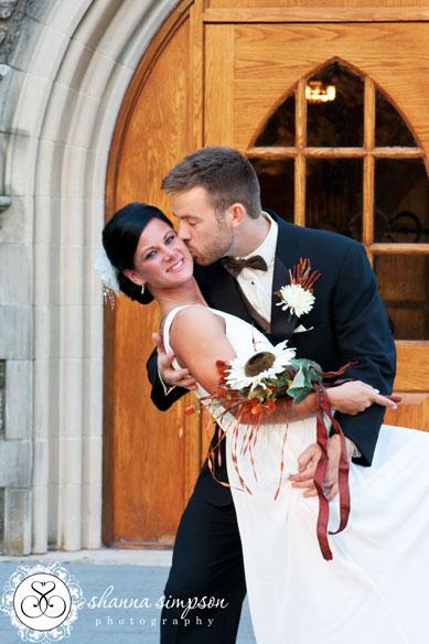 Duncan Memorial Chapel After wedding Kiss