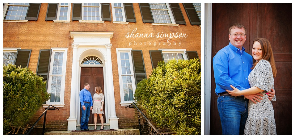 Melissa and Rob Engagement Session at My Old Kentucky Home